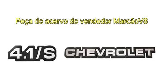 Emblemas Cinza 4.1/s E Chevrolet Opala 88 89 90