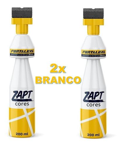 Kit Com 2 Zapt Tinta Para Rejunte Branco 200ml