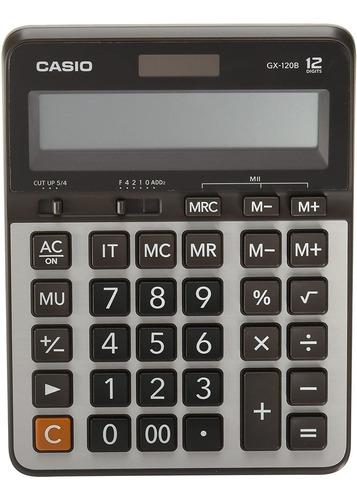 Calculadora Casio De Mesa Grande Gx-120b-w-dc 12 Digitos