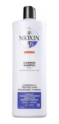 Shampoo Nioxin 6 Hair System Cleanser 1000ml + Brinde
