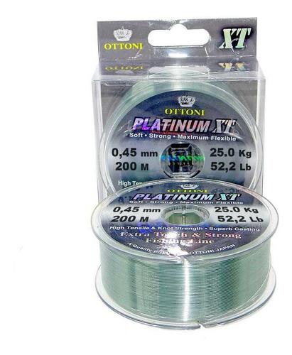 Linha Monofilamento Platinum Xt Box 0,45mm 25kg 200m