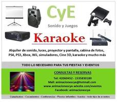 Alquiler De Sonido Luces Proyector Karaoke Fotocabina Cine3d