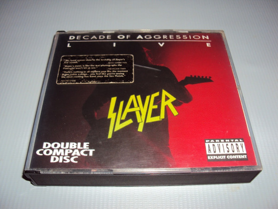 Cd Slayer Decade Of Aggression Live Duplo Importado Usa Conf