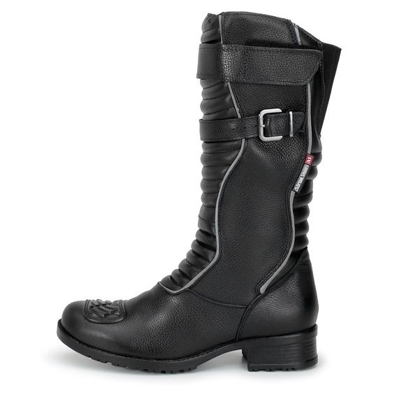 Bota Motociclista Refletiva Atron Shoes 9118 Promoção