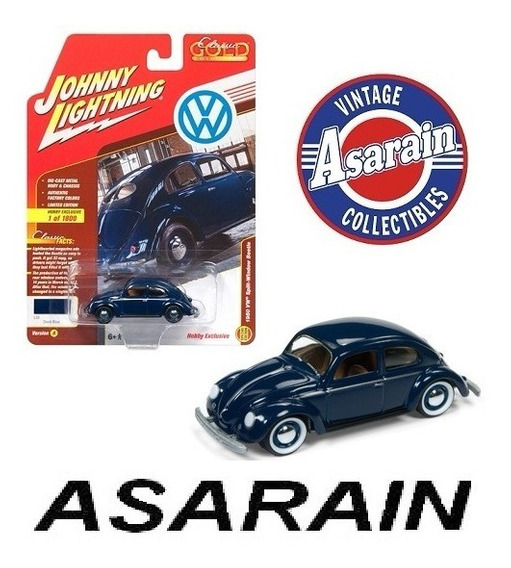Vw Fusca 1950 Azul Split Window Johnny Lightning - 1/64