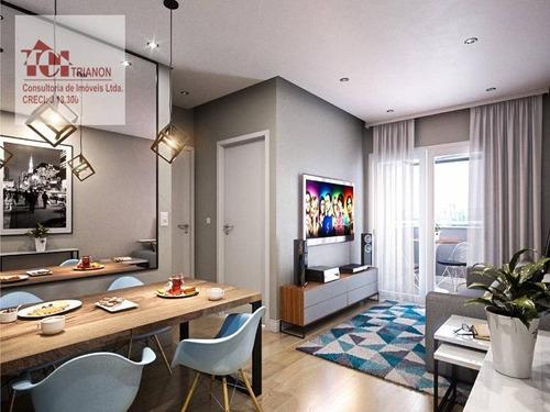 Apartamento Com 2 Dormitórios À Venda, 55 M² Por R$ 317.900,00 - Vila Tibiriçá - Santo André/sp - Ap2211