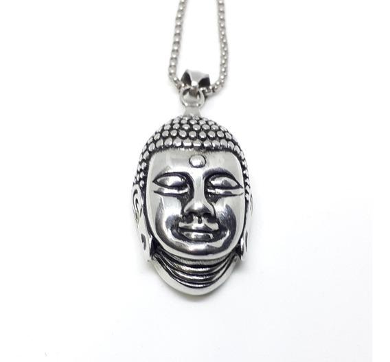 Colar E Pingente Buda De Inox