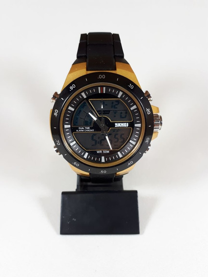 Relógio Esportivo Importado Masculino Skmei Preto Dourado