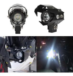 2x Neblineros Led Moto 12v 125w V8 Guepardo Transformers
