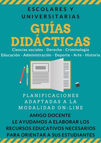 Guías Didácticas, Planificaciones Educativas, Manuales