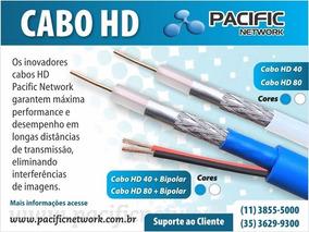 Cabo Hd-40 Ohms-96% Malha Dupla Blindagem Cftv Az C/ 300mts