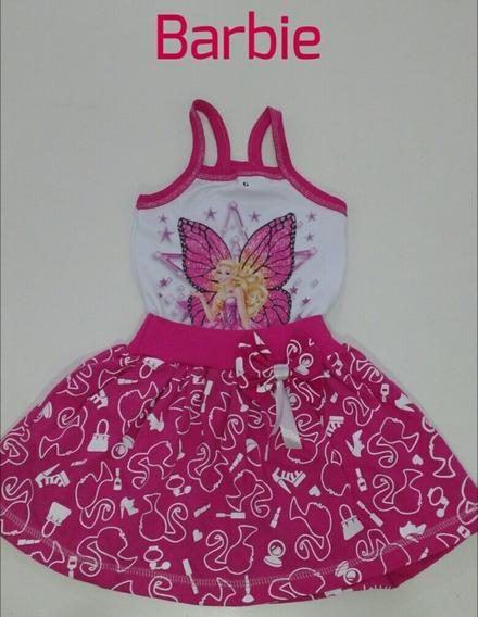 Vestido Temático Minie Barbie Personagem Infantil