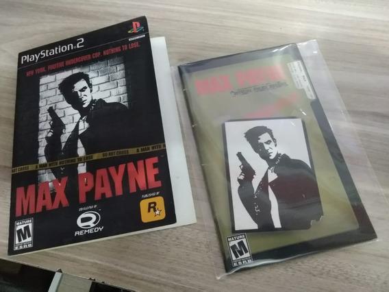 Capa + Manual Original Do Jogo Max Payne Playstation 2