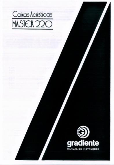 Manual Caixas Gradiente Master 220 / Digital