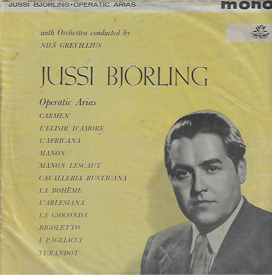 Lp Disco Vinil Jussi Björling 1959 Operatic Arias Importado