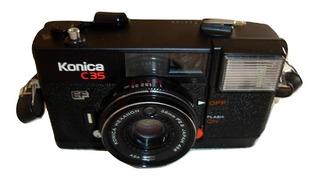 Camara Compacta Flash Konica C35 Ef (japon) 1974 Impecable