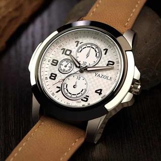 Relógio De Pulso Masculino Pulseira De Couro Luxo