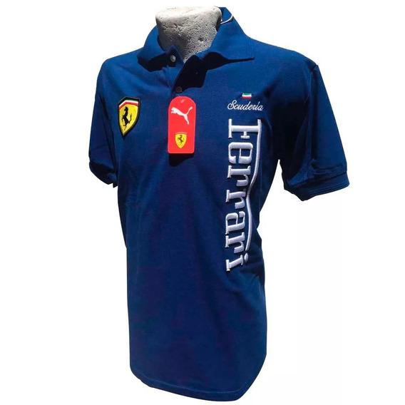 Playera Ferrari Tipo Polo 100% Algodon