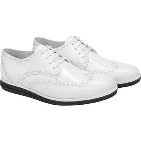 Sapato Social Masculino Derby Sandro Moscoloni Callum Branco