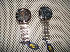 Relógio Atlantis Duplotime,alarmecronógrafo,luz,aço Novo.box