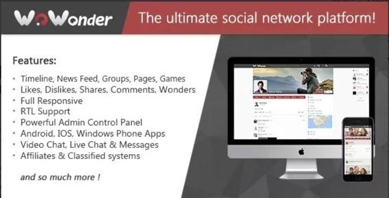 Wowonder Ultimate 2.4 Script Rede Social 2019