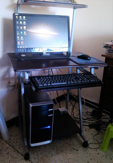 Combo Cpu, Monitor, Teclado, Mouse Y Mesa De Computadora