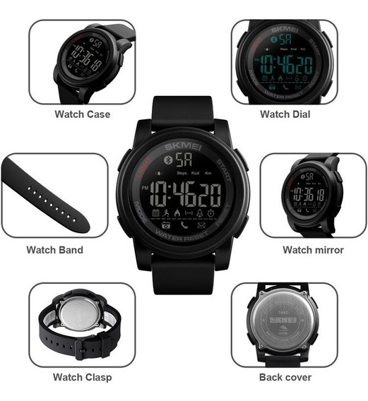 Relógio Smart Inteligente Original A Prova Dágua Relogio Smartwatch Com Bluetooth Android E Ios