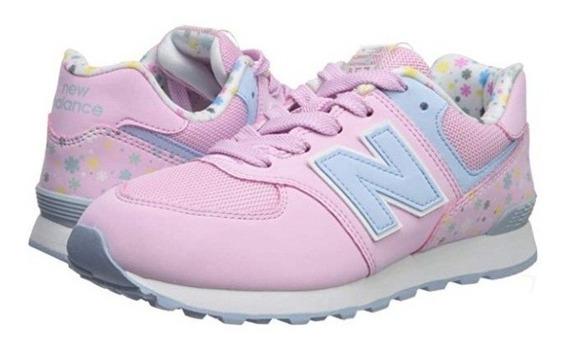 Tenis New Balance Pink Flowers #25