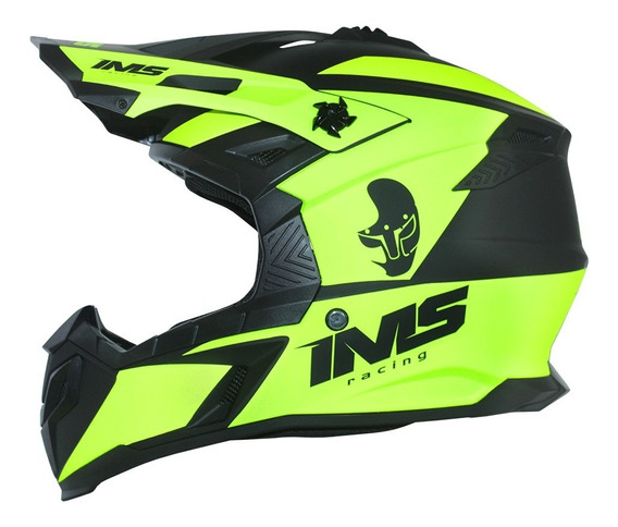 Capacete Ims Sprint Preto/fluor Mod. 2020 Motocross Trilha