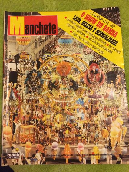 Manchete Carnaval 92 Samba Xuxa Monique Luiza Gatas Bailes