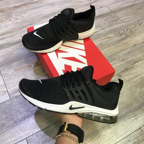 huella Hierbas bar  Tenis Zapatillas Nike Air Presto Recamara Negra Indicy | Mercado Libre