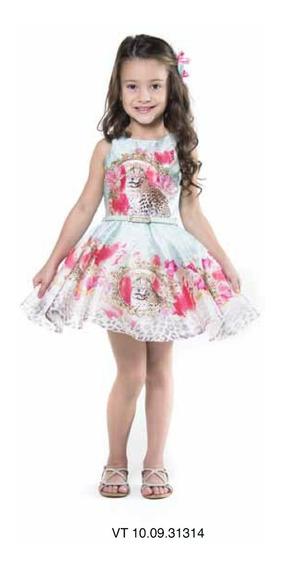 Vestido Petit Cherie Infantil Festa Floral 10.09.31314