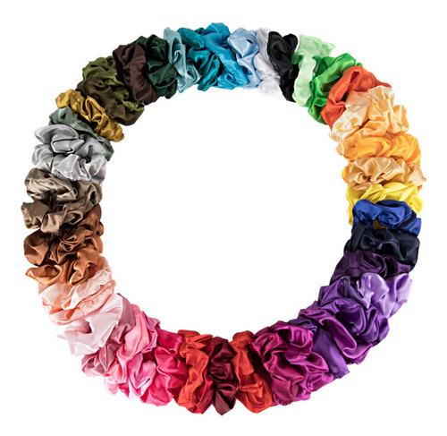 Ligas Para Cabello Scrunchies De Satén 46 Colores