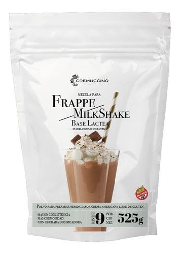 Frappe Milkshake Polvo Base Lactea 525gr Cremuccino