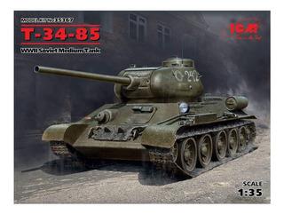 Icm 1/35 Ejército Soviético T -34/85 Modelo De Plástico 3