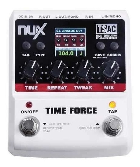 Pedal De Efeito Time Force Delay Nux Nfa3559