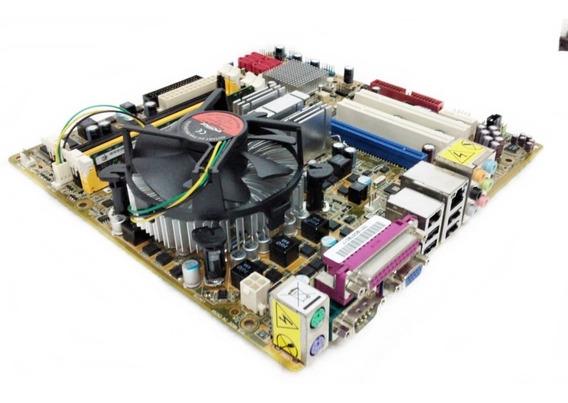 Kit Placa Mãe Pos-pq35as + Intel Core 2 Duo + 2gb + Cooler