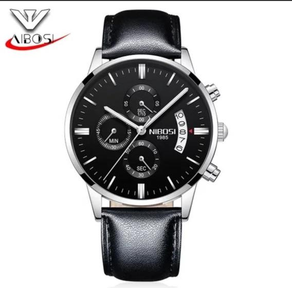 Relógio Masculinos Nada Nibosi 2309 Pulseira De Couro