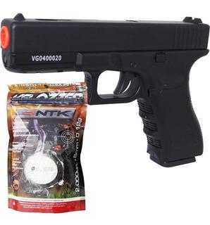 Airsoft Pistola Vg Gk-v20 Metal Mola 6mm + Esferas Bbs