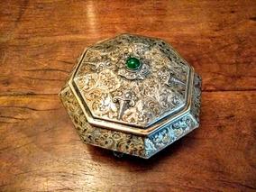 Caixa De Prata Italiana Luantiguidades