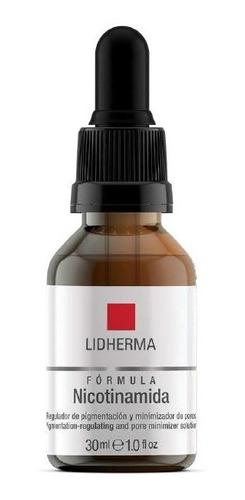 Imagen 1 de 10 de Formula Nicotinamida Minimiza Poros Piel Grasa 30ml Lidherma