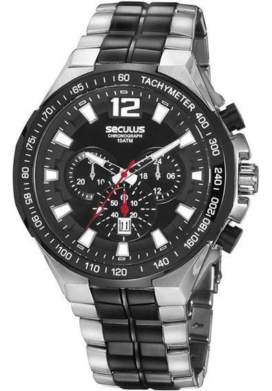Relógio Seculus Masculino Cronógrafo 20842gpsvca1