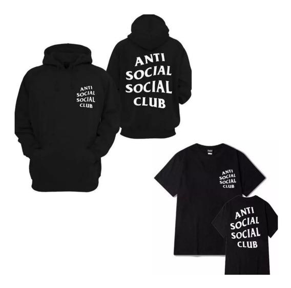 Kit Moletom Blusão + Camiseta Anti Club Social Frete Gratis