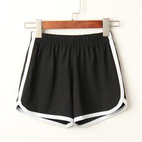 Pantalones Cortos Deportivos De Verano Para Mujer Color Sól