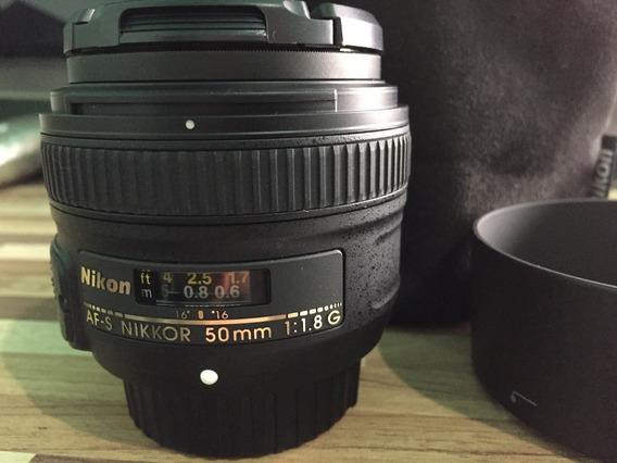 Lente Nikon Af-s Nikkor 50mm F/1.8g Autofoco (nova)