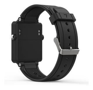 Pulseira Silicone Relógio Garmin Vivoactive Adulto Preta