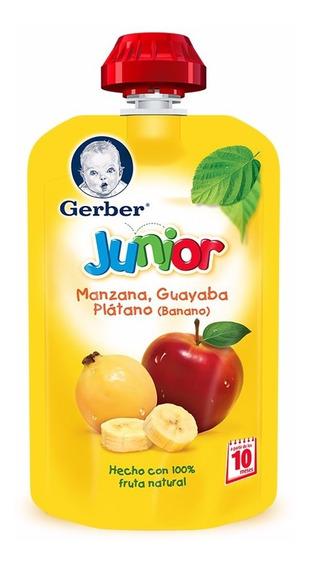 Papilla Gerber Junior Pouch Manzana Guayaba Y Plátano 120 Gr