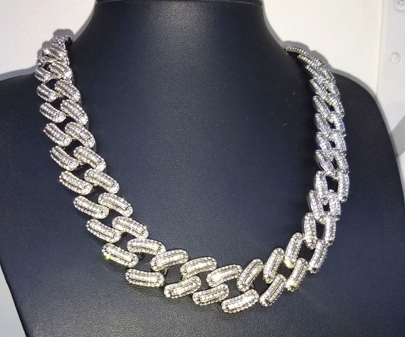 Cubana Bugatti 20mm, Plata, Diamantes - Trap, Hip Hop