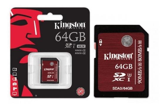 Cartão De Memória Kingston 64gb Sdxc Sda3/64gb Original