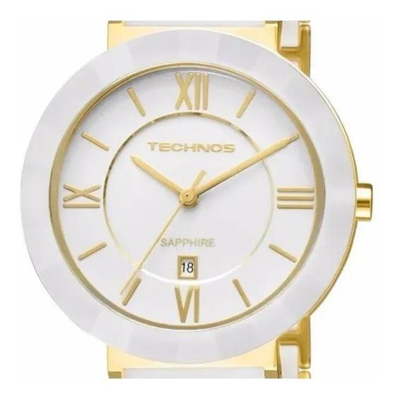 Relógio Technos Feminino Luxo Aço+cerâmica2015bv/4b Garantia